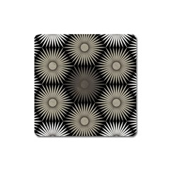 Sunflower Black White Square Magnet