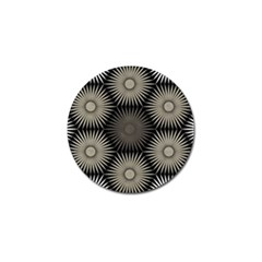Sunflower Black White Golf Ball Marker (10 Pack)