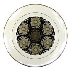 Sunflower Black White Porcelain Plates