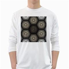 Sunflower Black White White Long Sleeve T Shirts