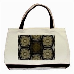 Sunflower Black White Basic Tote Bag