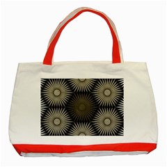 Sunflower Black White Classic Tote Bag (red)