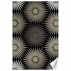 Sunflower Black White Canvas 24  X 36