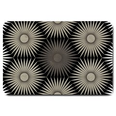 Sunflower Black White Large Doormat
