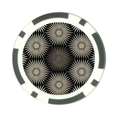 Sunflower Black White Poker Chip Card Guard