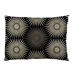 Sunflower Black White Pillow Case