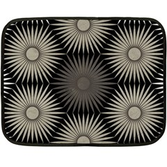 Sunflower Black White Fleece Blanket (mini)