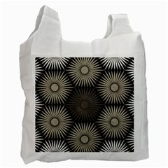 Sunflower Black White Recycle Bag (two Side)