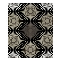 Sunflower Black White Shower Curtain 60  X 72  (medium)