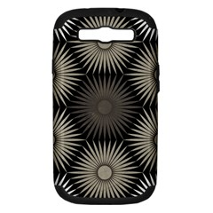 Sunflower Black White Samsung Galaxy S Iii Hardshell Case (pc+silicone)