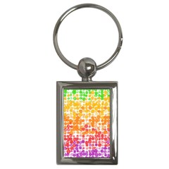 Spots Paint Color Green Yellow Pink Purple Key Chains (rectangle)  by Alisyart