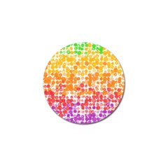 Spots Paint Color Green Yellow Pink Purple Golf Ball Marker (10 Pack) by Alisyart
