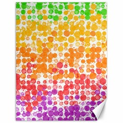 Spots Paint Color Green Yellow Pink Purple Canvas 12  X 16   by Alisyart
