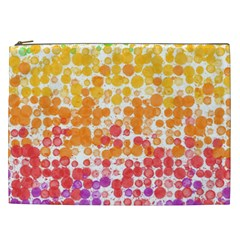 Spots Paint Color Green Yellow Pink Purple Cosmetic Bag (xxl)  by Alisyart