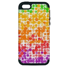 Spots Paint Color Green Yellow Pink Purple Apple Iphone 5 Hardshell Case (pc+silicone) by Alisyart