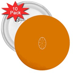 Lime Orange Fruit Fres 3  Buttons (10 Pack)  by Alisyart