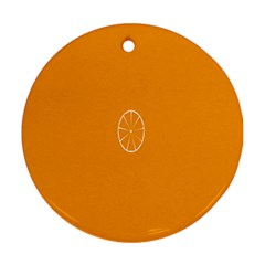 Lime Orange Fruit Fres Round Ornament (two Sides) by Alisyart