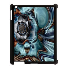 Light Color Floral Grey Apple Ipad 3/4 Case (black) by Alisyart