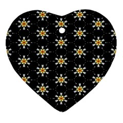 Background For Scrapbooking Or Other With Flower Patterns Ornament (heart) by Nexatart