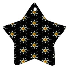 Background For Scrapbooking Or Other With Flower Patterns Star Ornament (two Sides)