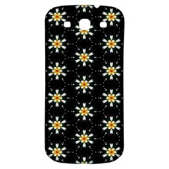 Background For Scrapbooking Or Other With Flower Patterns Samsung Galaxy S3 S Iii Classic Hardshell Back Case by Nexatart