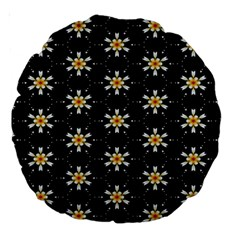 Background For Scrapbooking Or Other With Flower Patterns Large 18  Premium Round Cushions by Nexatart