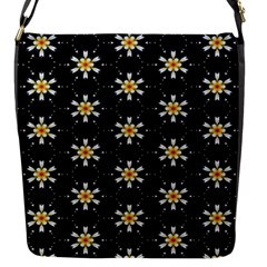 Background For Scrapbooking Or Other With Flower Patterns Flap Messenger Bag (s)