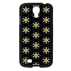 Background For Scrapbooking Or Other With Flower Patterns Samsung Galaxy S4 I9500/ I9505 Case (black)