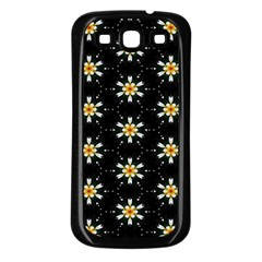Background For Scrapbooking Or Other With Flower Patterns Samsung Galaxy S3 Back Case (black)