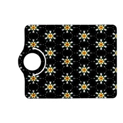 Background For Scrapbooking Or Other With Flower Patterns Kindle Fire Hd (2013) Flip 360 Case by Nexatart
