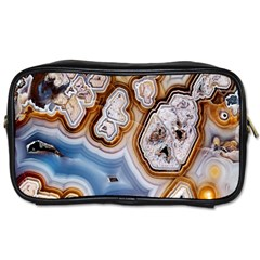 Honey Comb Agate Gold Toiletries Bags by Alisyart