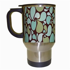 Leaf Camo Color Flower Floral Travel Mugs (white) by Alisyart
