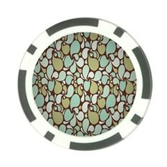 Leaf Camo Color Flower Floral Poker Chip Card Guard (10 Pack) by Alisyart