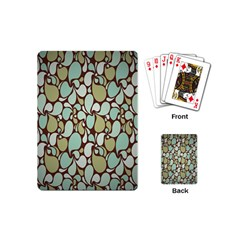 Leaf Camo Color Flower Floral Playing Cards (mini)  by Alisyart