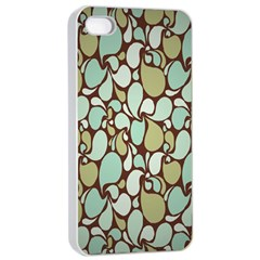 Leaf Camo Color Flower Floral Apple Iphone 4/4s Seamless Case (white)