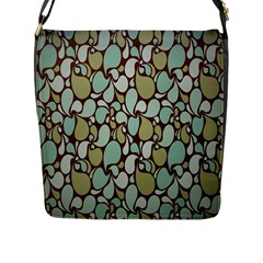 Leaf Camo Color Flower Floral Flap Messenger Bag (l)  by Alisyart