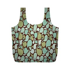 Leaf Camo Color Flower Floral Full Print Recycle Bags (m)  by Alisyart