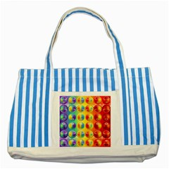 Background For Scrapbooking Or Other Striped Blue Tote Bag