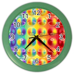 Background For Scrapbooking Or Other Color Wall Clocks