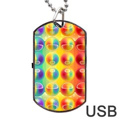 Background For Scrapbooking Or Other Dog Tag Usb Flash (one Side) by Nexatart