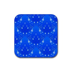 Background For Scrapbooking Or Other With Snowflakes Patterns Rubber Coaster (square)  by Nexatart