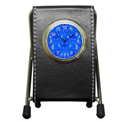 Background For Scrapbooking Or Other With Snowflakes Patterns Pen Holder Desk Clocks
