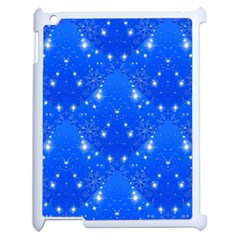 Background For Scrapbooking Or Other With Snowflakes Patterns Apple Ipad 2 Case (white)