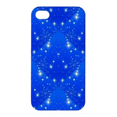 Background For Scrapbooking Or Other With Snowflakes Patterns Apple Iphone 4/4s Hardshell Case