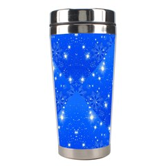 Background For Scrapbooking Or Other With Snowflakes Patterns Stainless Steel Travel Tumblers