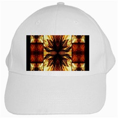 Background Pattern White Cap by Nexatart