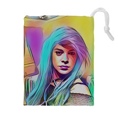 Kelly Pop Drawstring Pouches (extra Large) by MRTACPANS