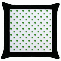 Saint Patrick Motif Pattern Throw Pillow Case (black) by dflcprints