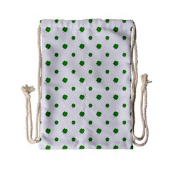 Saint Patrick Motif Pattern Drawstring Bag (small) by dflcprints