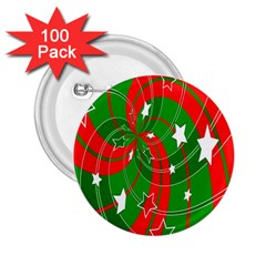 Background Abstract Christmas 2 25  Buttons (100 Pack)